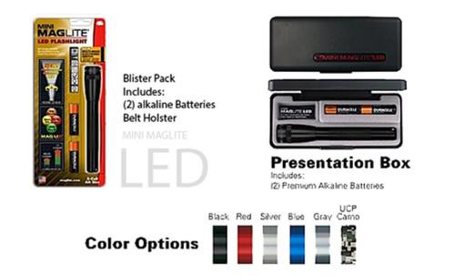 Maglite Mini Maglite LED Flashlight 2AA Red, Holster