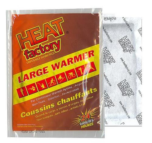 Heat Factory Large Hand Warmer, 20/Case or 1/Pack