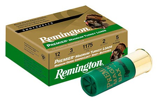 Remington Turkey 12ga 3 2 oz 5 Shot Copper-Plated Lead 10Box/10Case