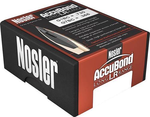 Nosler AccuBond LR 6.5mm .264 129gr 100 Per Box