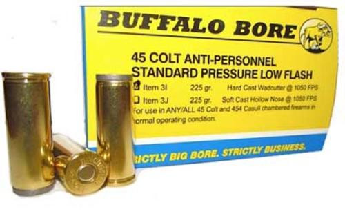Buffalo Bore .45 Colt Anti Personnel 225gr, Hard Cast Wad Cutter, 20rd Box