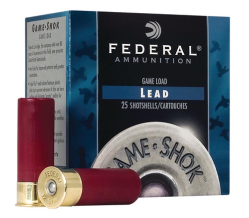 "Federal Game-Shok 12 Ga, 2.75"", 1290 FPS, 1oz, 8 Shot, 250rd/Case"