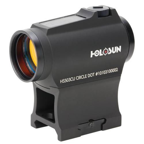 Holosun HS Classic, 1x, 2 MOA Dot/65 MOA Ring, Multi-Reticle, Black