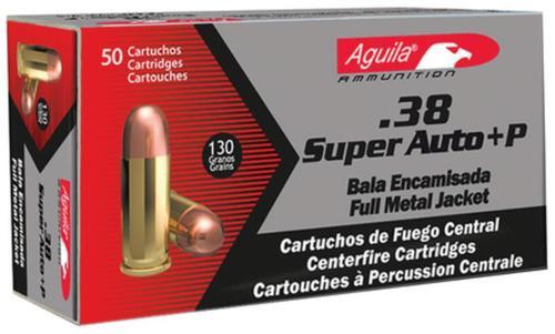 Aguila .38 Super + P 130gr, FMJ, 50rd Box