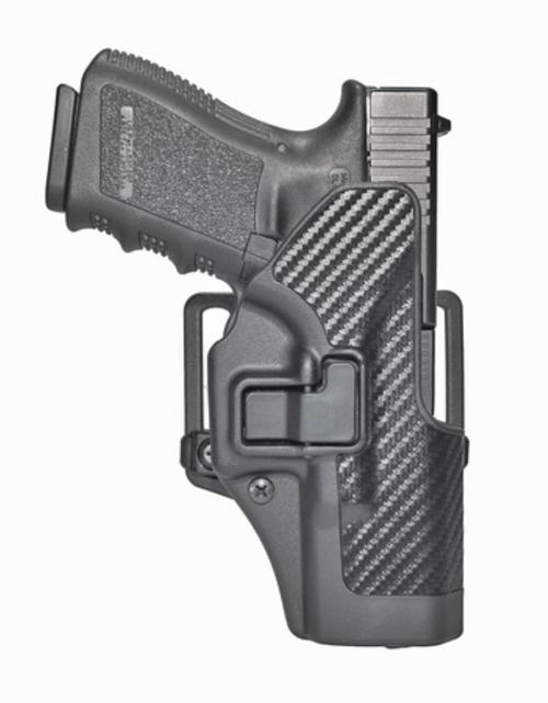Blackhawk CQC Serpa Holster, Fits Glock 19/23/31/36, Carbon Fiber, Right Handed