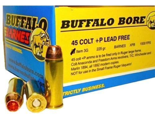 Buffalo Bore 45 Colt +P Lead-Free Barnes XPB 225gr, 20rd Box