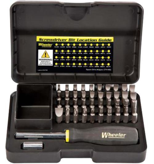 Wheeler Professional Gunsmithing Screwdriver Set, Black, 43 Piece
