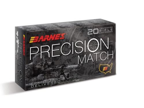 Barnes Precision Match .308 Win 175gr, Open Tip Match 20rd Box