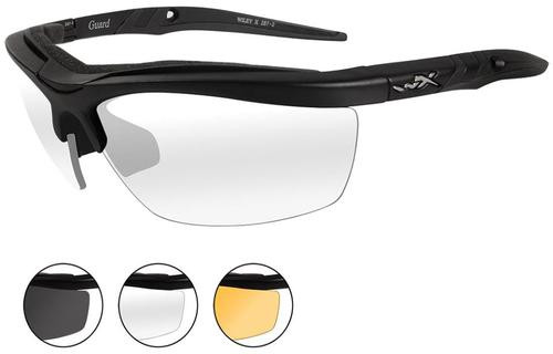 Wiley X Eyewear Guard Safety Glasses Matte Black/Smoke,Clear,Rust
