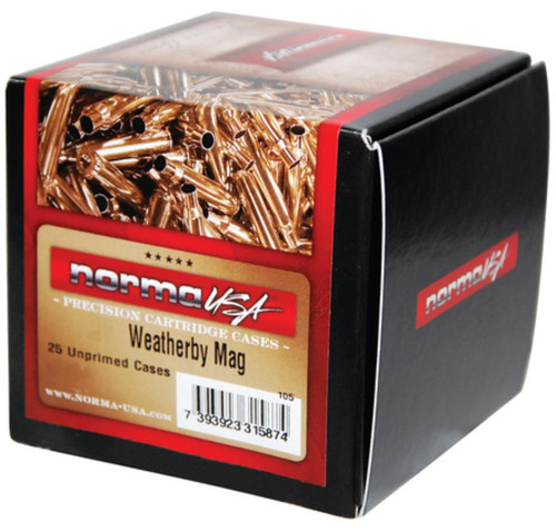 Norma Ammunition Norma Weatherby Unprimed Brass Cases .240 Weatherby Magnum