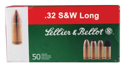 Sellier and Bellot 32 S&W Long 100 LRN 50Rd/Box