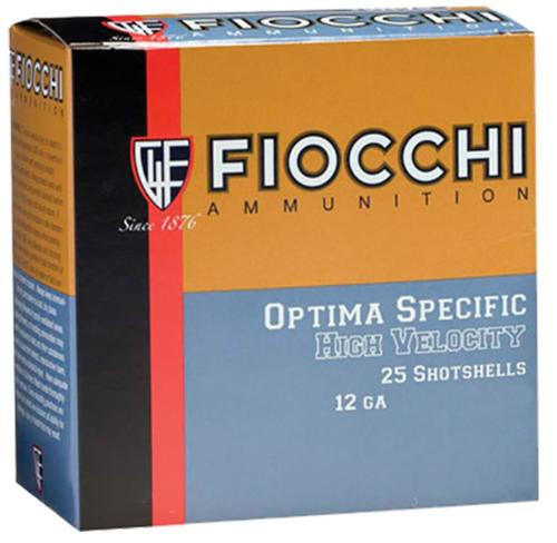 "Fiocchi 4 High Velocity Shotshells 12 Ga, 3"", 1-3/4oz, 4 Shot, 25rd/Box"