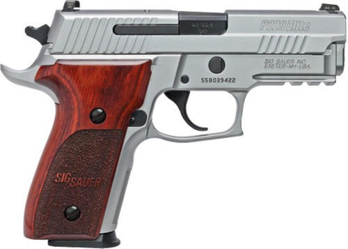 "Sig P229 ASE Elite 9mm 3.9"" Barrel Rosewood Grips, Night Sites 10rd Mag"