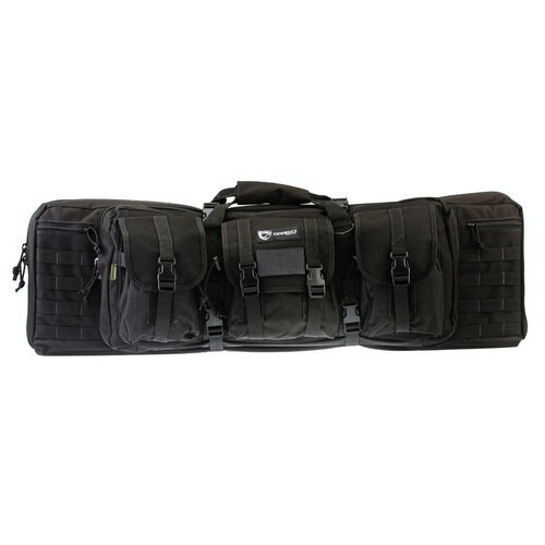 "Drago Gear 12-301BL Tactical Double Gun Case 36"" 600D Polyester Black"