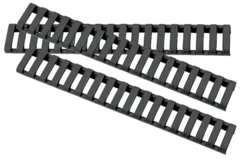 ERGO Low Profile Rail Cover, Long - Eighteen Slot Black 3 pack