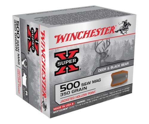Winchester Super-X Handgun .500 Smith & Wesson 350gr, Jacketed Hollow Point