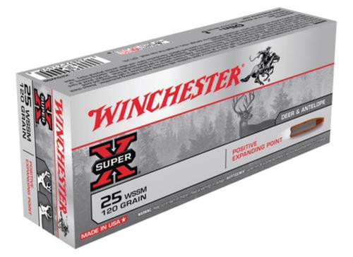 Winchester Super X 25 Super Short Mag PEP 120gr, 20Box/10Case