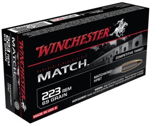 Winchester Match .223 Rem 69gr, Hollow Point Boattail 20rd Box