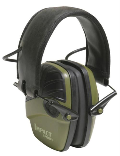 Howard Leight Impact Sport OD Green Electronic Earmuffs