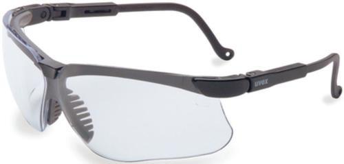 Howard Leight Genesis Glasses, Black Frame, Clear Lens