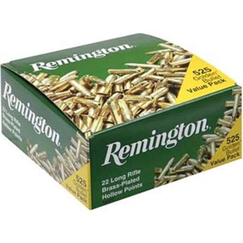 Remington 22LR 36gr, Plated Hollow Point, 525rd Box