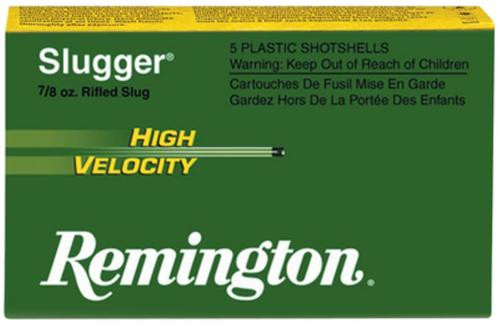 Remington Slugger 12 Gauge, 3 Inch, 1800 FPS, .875 Ounce, Foster Slug, 5rd/Box