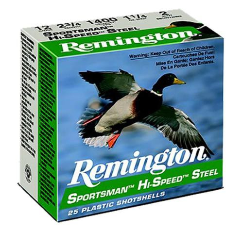 "Remington Sportsman Steel Loads 12 Ga, 2.75"", 1oz, 7 Shot, 25rd Box"