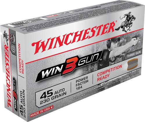 Winchester Win3Gun 45 ACP 230gr, 50rd Box,