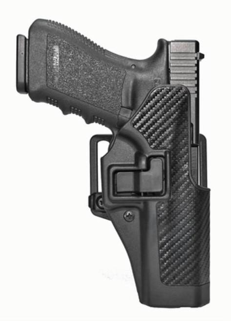Blackhawk CQC Serpa Holster, For Glock 20/21, Carbon Fiber, Right Handed