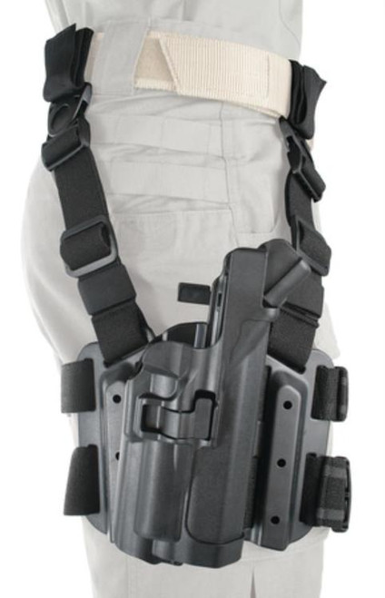 BlackHawk Tactical SERPA Level 3 Holster, Right Handed, Thigh Rig, Glock 20/21 With BH Light