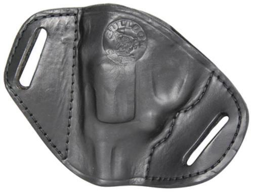 Bulldog Belt Slide Small J Frame Revolver Hlstr RH Leather Black