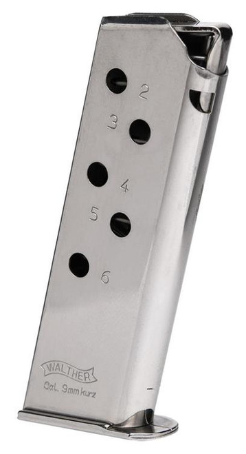 Walther Magazine Ppk/S 380 ACP 7 Round Standard Nickel .380
