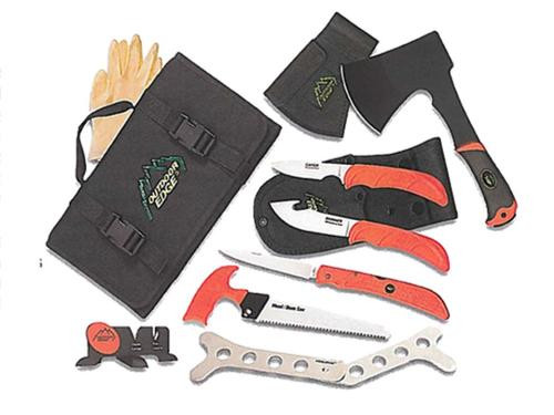 Outdoor Edge Outfitter Cleaning Kit 8 Piece Individual Sheaths Rollpack