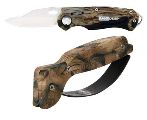 Accusharp Knife/Tool Sharpener and Sport Knife Combo Diamond Hard