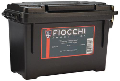 Fiocchi Extrema Hunting .223 Remington 40gr, V-Max 200rd/Case