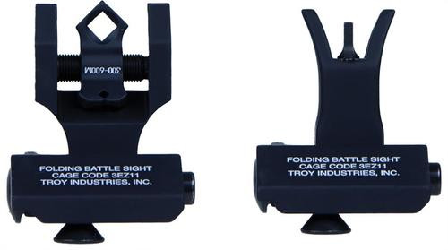 Troy 45s Front & Dipotic Rear AR-15/M4/M16 Black Metal