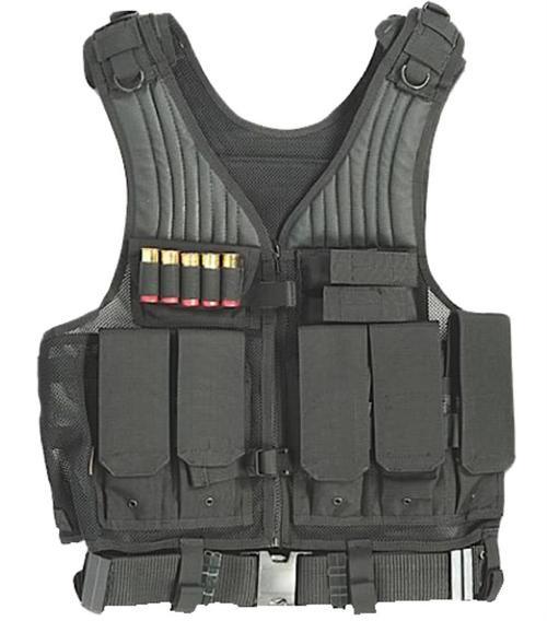 Drago Gear First Strike Vest Tactical Black Mesh Net