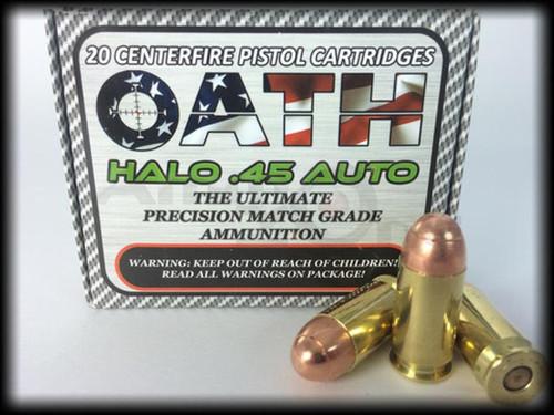 Oath Halo 45ACP, 155 Gr, 20rd/Box