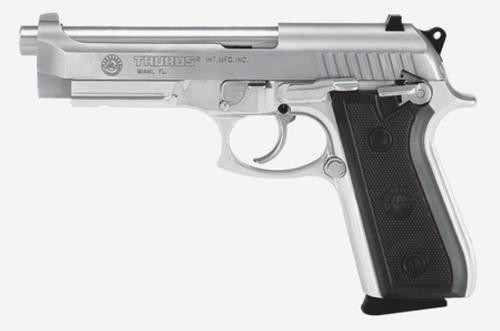 "Taurus 92 9mm, 5"" Barrel, Fixed Sights, Stainless, Rail, 17rd"