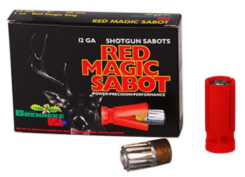 "Brenneke Red Magic Sabot, 12 Ga, 2.75"", 1oz, 5rd/Box"