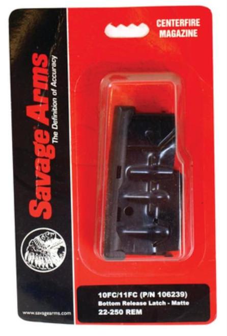 Savage Magazine Box Bottom Release 10Fc/11Fc/12Fcv/12Lrp/10 Precision Carbine/11 Long Range Hunter/10 Predator Hunter .223 Remington/.204 Ruger Matte Blue