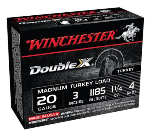 Winchester Double X Magnum Turkey Loads Copper Plated Buffered 20 Gauge 3 Inch 1185 FPS 1.25 Ounce 4 Shot
