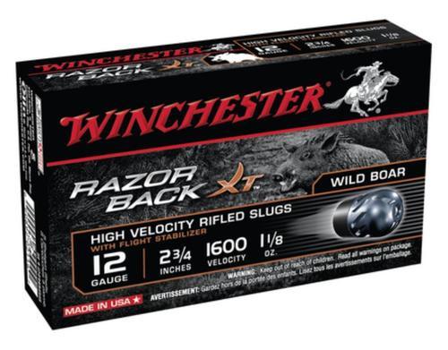 "Winchester Razorback XT Rifled Slug 12 Ga, 2.75"", 1600 FPS, 1 oz, 5rd/Box"
