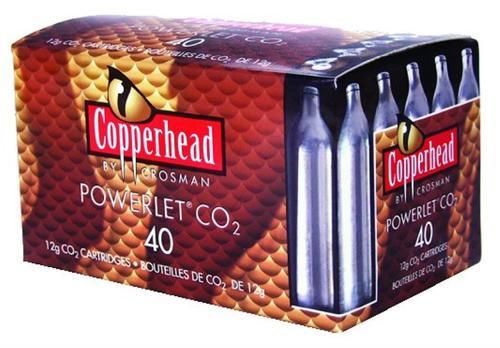 Crosman Powerlet CO2 Cartridges 12 Grams Stainless, 40/Pack