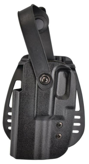 Uncle Mike's Kydex Thumb Break Paddle Holsters Size 21 Glock 17/22/19/23 Black Left Hand