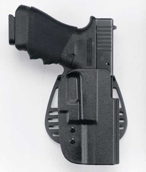 Uncle Mike's Kydex Paddle Holster 31, HK USP Comp (All Calibers), Black Kydex, Right Hand