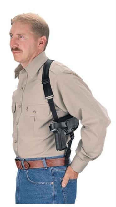 Uncle Mike's Horizontal Shoulder Holster Sz 15 Black Nylon