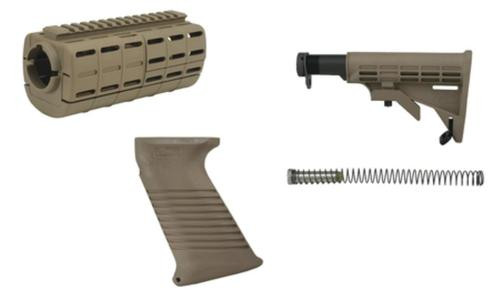 Tapco Intrafuse AR-15 Stock Set Flat Dark Earth