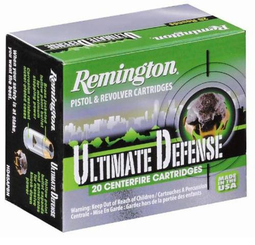 Remington Ultimate Defense 45 ACP Brass Jacket Hollow Point 230gr, 20 Round Box