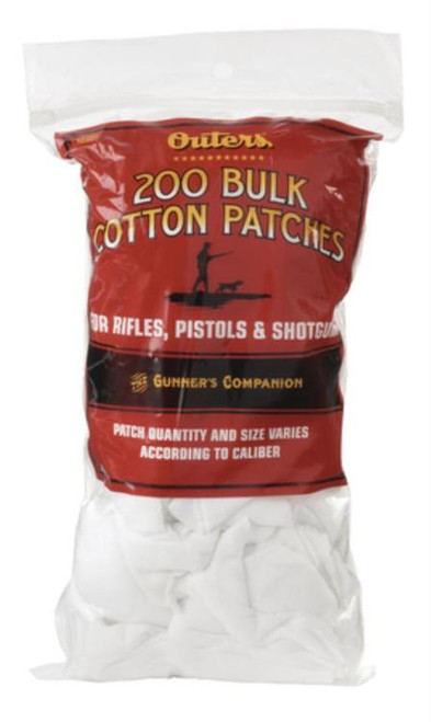 Outers Bulk Cotton Patches For Rifle/Shotgun/Pistol Approximately 200